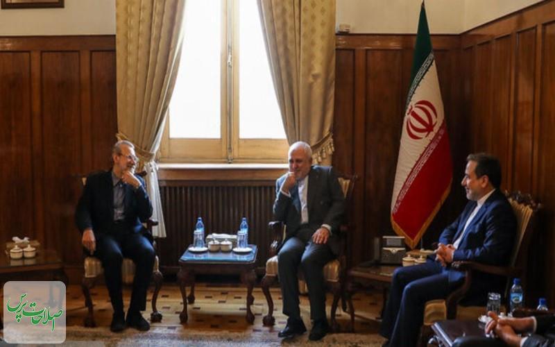 ظریف-با-تمام-توان-از-منافع-ملی-دفاع-می-کنم-لاریجانی-شما-نماد-ورزیدگی-و-سختکوشی-دیپلماسی-ایران-هستید