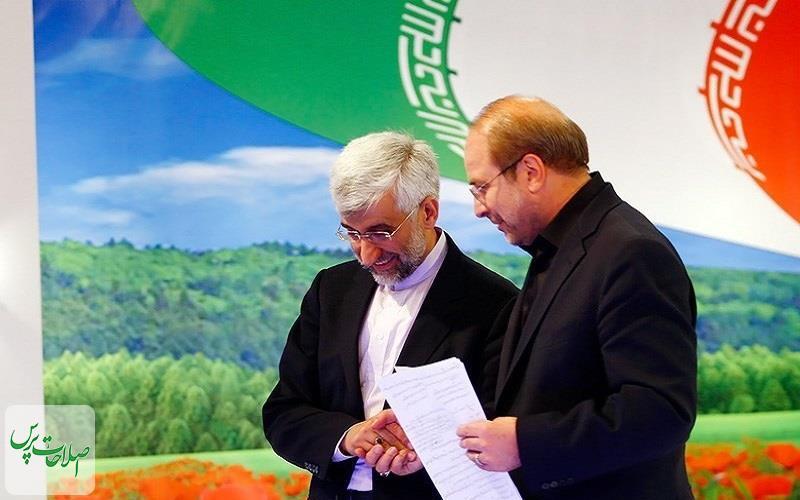 رویارویی-انتخاباتی-جلیلی-و-قالیباف-در-مقر-اصلی-جبهه-پایداری