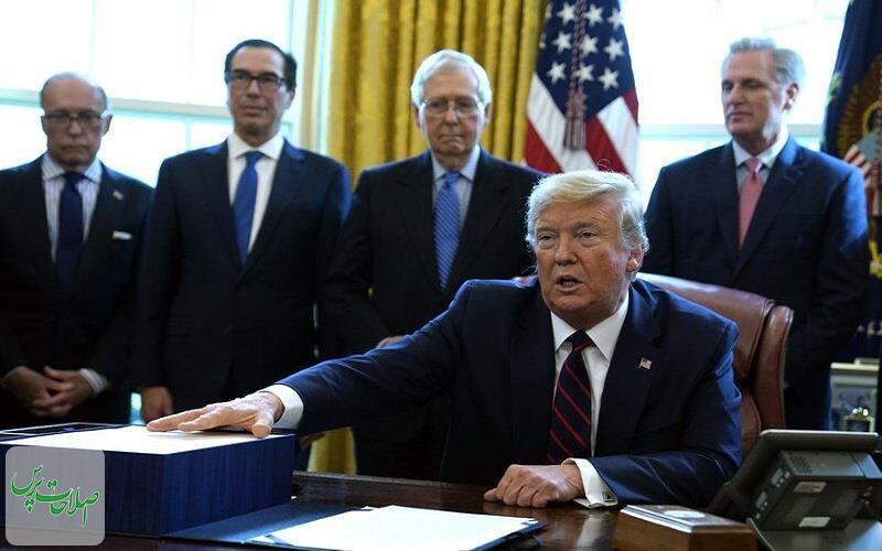 ترامپ-طرح-۲-تریلیون-دلاری-مقابله-با-کرونا-را-بدون-حضور-دموکراتها-امضا-کرد