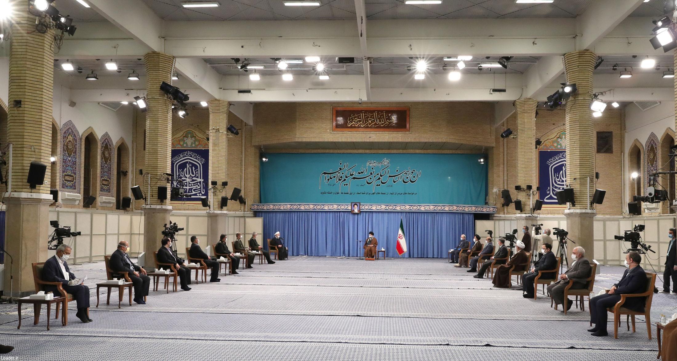 جلسه-ستاد-ملی-مقابله-با-کرونا-در-حضور-رهبر-معظم-انقلاب-اسلامی