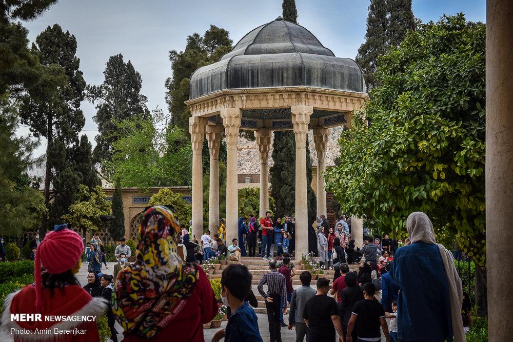 مسافران نوروزی شیراز در ایام کرونا