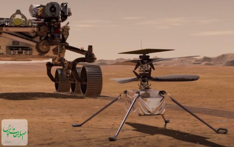 لحظه تاریخسازی ناسا/ پرواز هلیکوپتر ناسا روی سطح مریخ